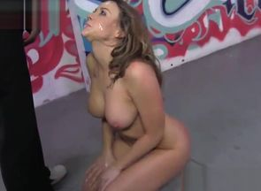 Big-boobed stunner gags on bbcs