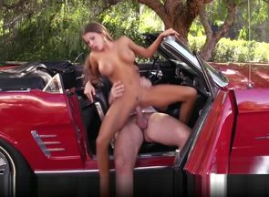 Sexy car model Madison Ivy has a..
