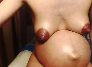 Lubricated white preggo Russian webcam