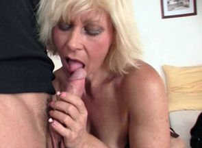 Mind-blowing blond grandmother gets..